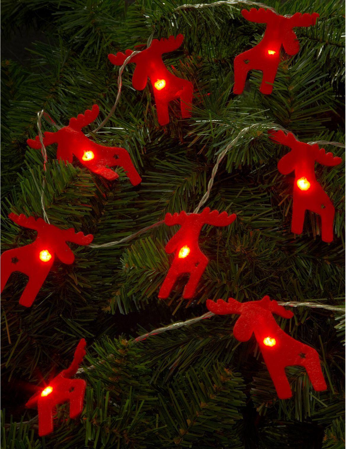 Guirlande Lumineuse De Noel A Piles De 12 Ampoules Led En Forme D