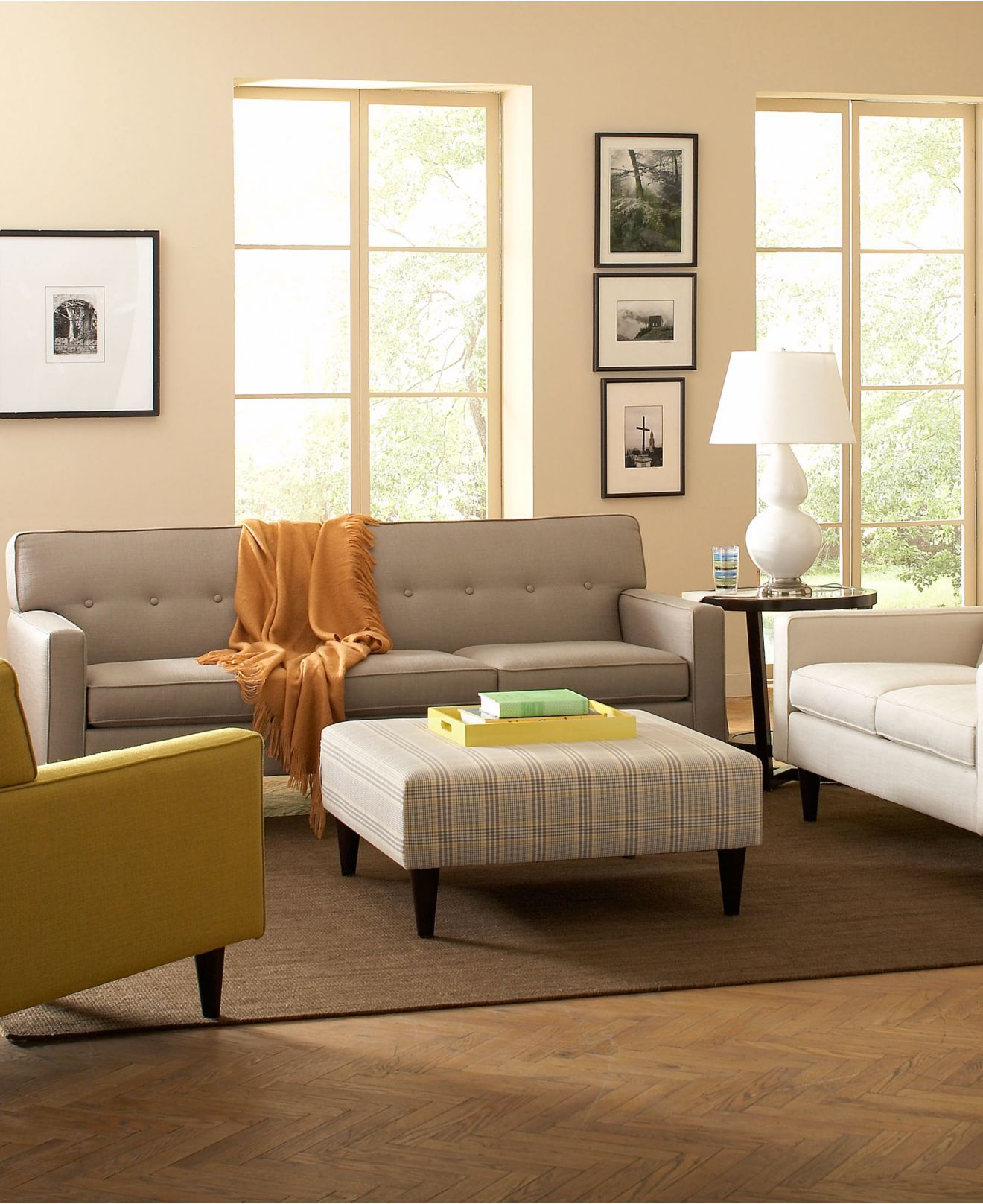 Clare Fabric Living Room Furniture Sets & Pieces - Sofas ...