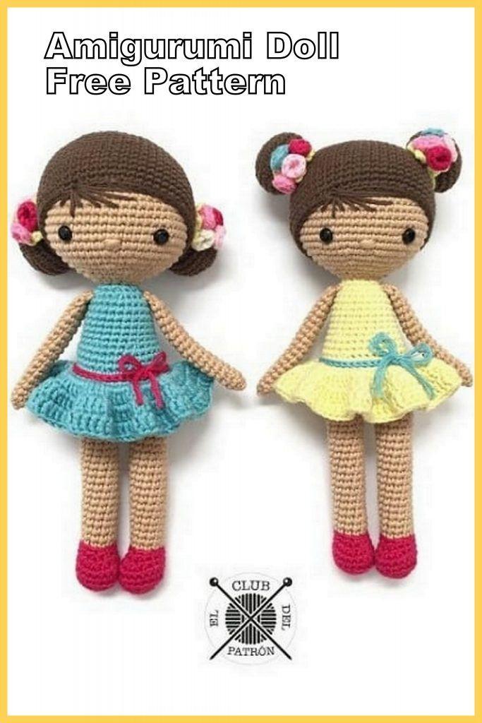 Amigurumi Baby Doll Bun Free Crochet Pattern - Amigurumi Patterns #minioncrochetpatterns