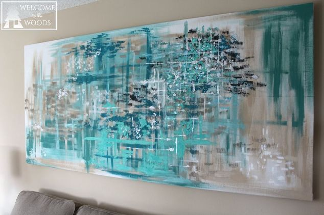 How To Make Large Canvas Diy Wall Art For 14 Large Canvas Wall