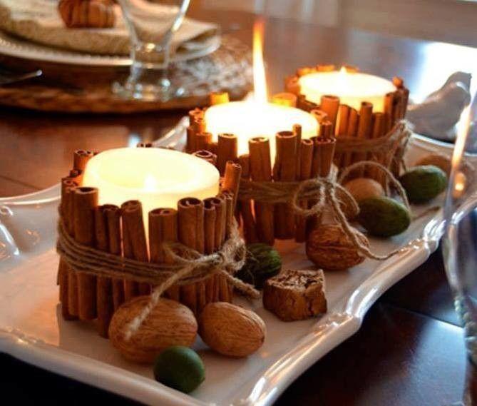 Decorazioni d 39 autunno per la casa candele lanterne vasi bougie noel d coration automne - Decorazioni natalizie fatte a mano per bambini ...
