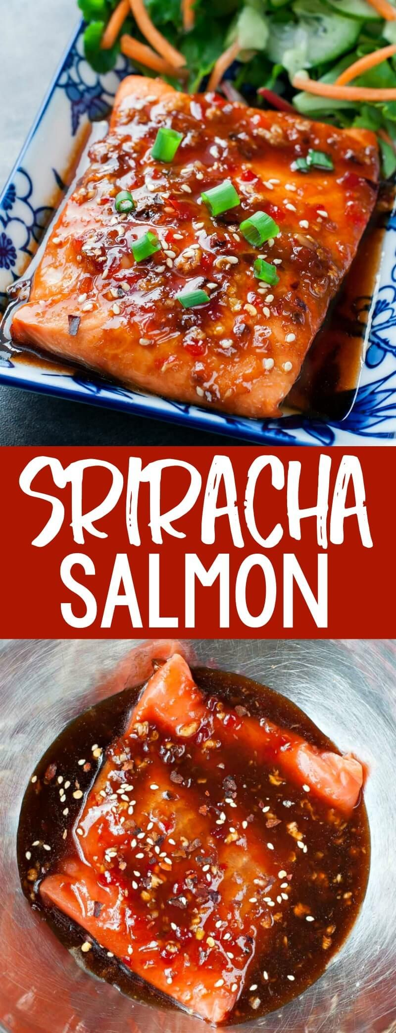 Sweet Chili Sriracha Salmon Recipe - Peas and Crayons