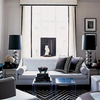 Hollywood Regency Living Room | ... And White Living Room, Hollywood Regency ,