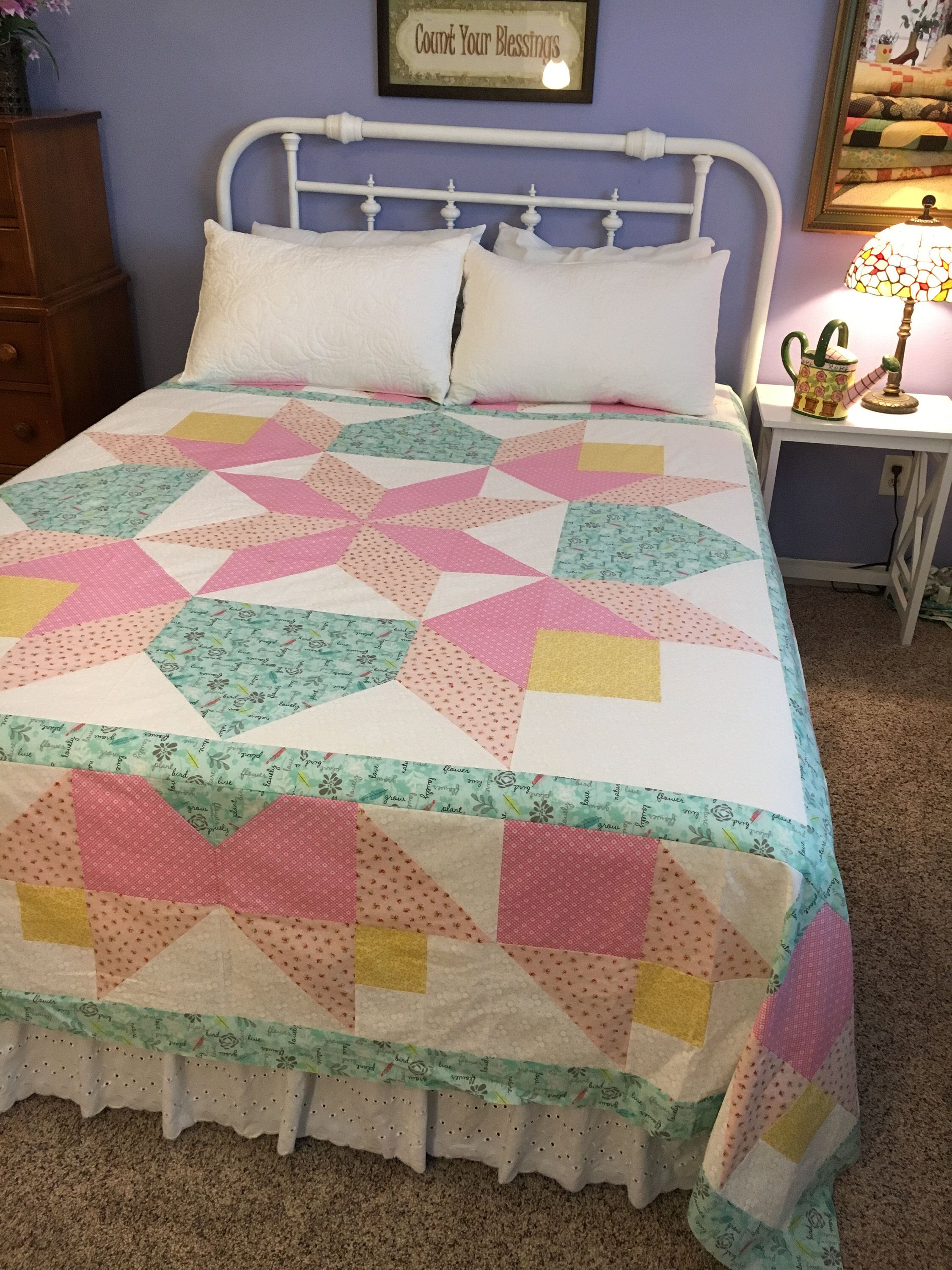 Excited To Share This Item From My Shop Tulip Star Quilt Pattern Bedding Tulipquilt Starquilt Starquiltpattern Quilt Patterns Star Quilt Patterns Quilts