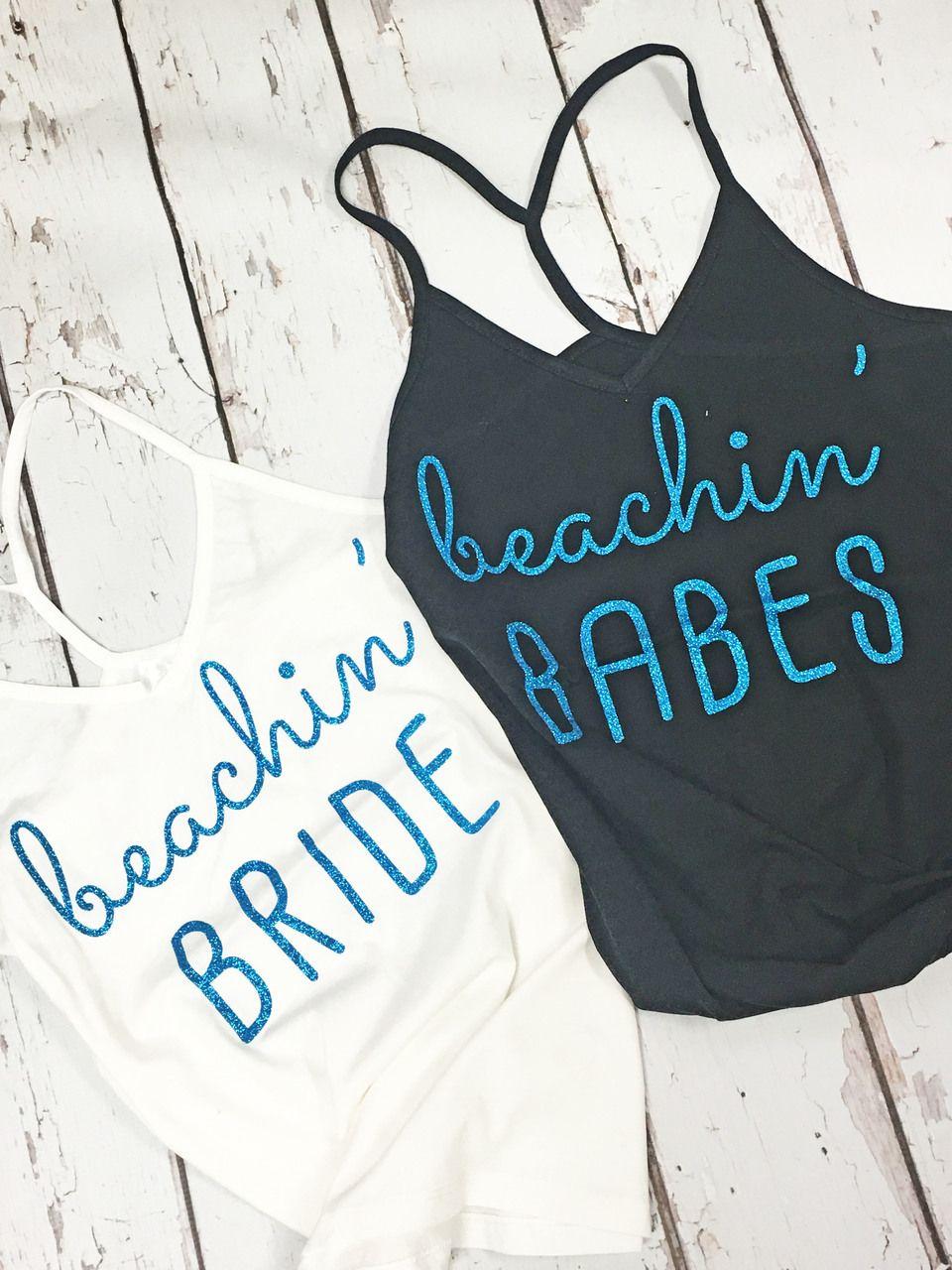 Beachin' Bride and Beachin' Babes Strappy Tank ...