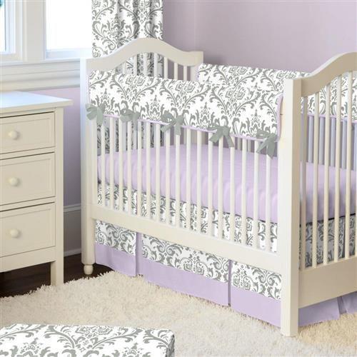 Baby Girl Nursery Purple, Purple Elephant Mini Crib Bedding