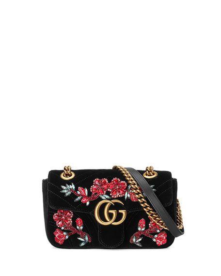 603251a78515 GUCCI Gg Marmont 2.0 Mini Velvet Shoulder Bag