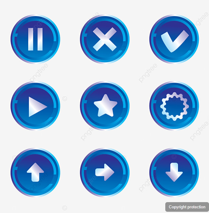 Social Icon Blue High Tech Social Technology Button Png And Vector With Transparent Background For Free Download Social Icons High Tech Icon
