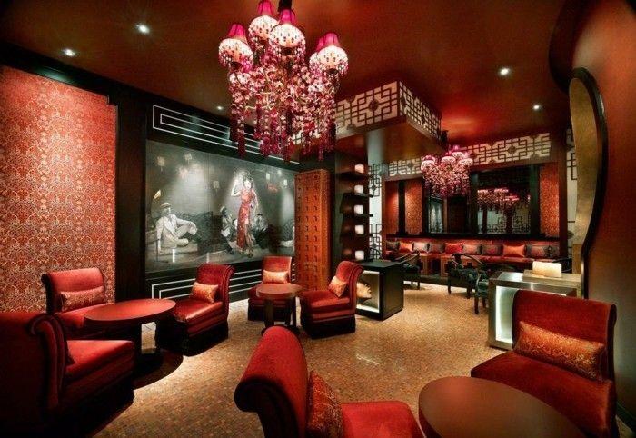 innendesign einrichtungsbeispiele wohnideen deko ideen china rot ...
