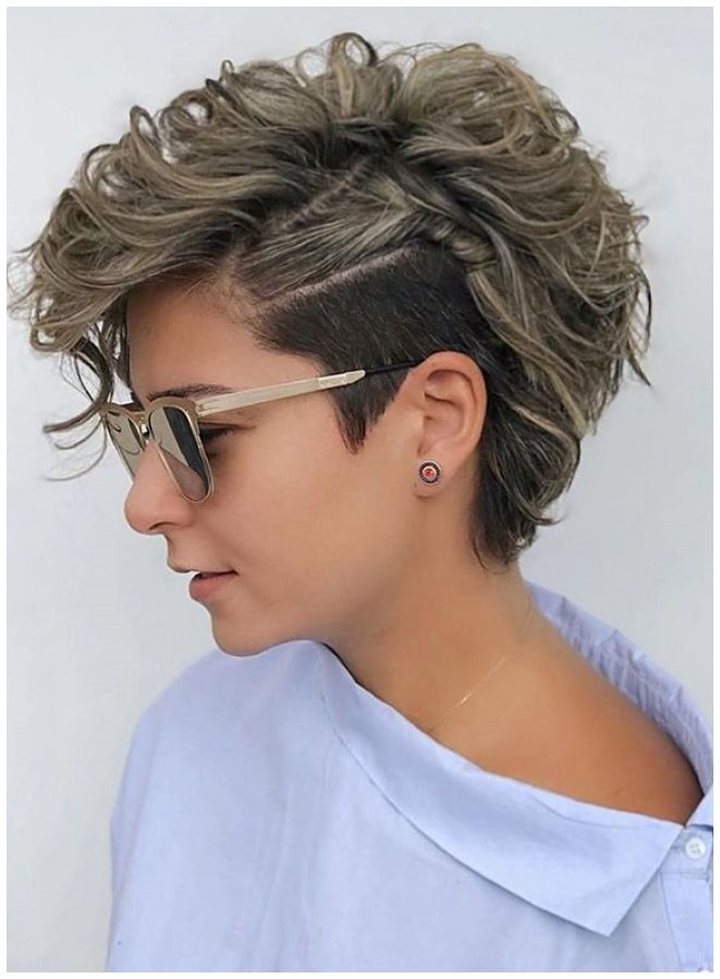 Modern Short Curly Pixie Haircuts To Show Off In Y