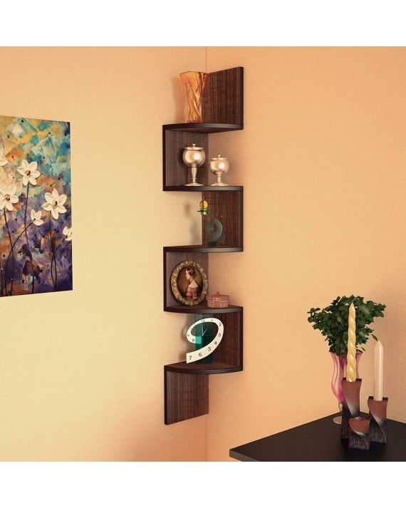 DecorNation Floating Wall Shelf - Set Of 3 \'U\' Shape MDF Wall Racks ...