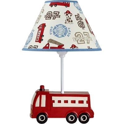 Firetruck Themed Nursery | NoJo Engine 27 Fire Truck Lamp And Lampshade |  Meijer.com