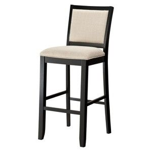 Kendall Upholstered Stool Black Target Mobile Upholstered
