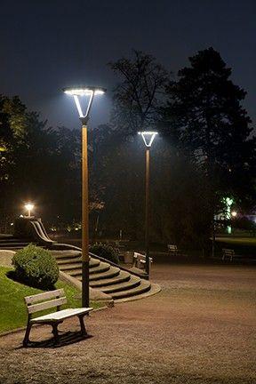 Candeliance Hauts De France Eclairage Decoratif Luminaire Led En Top Mat Bois Embase Acier Gal Design Exterieur Eclairage Decoratif Eclairage De Jardin