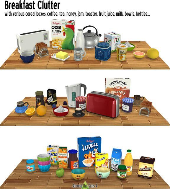 Sims Stuff 4 Kitchen: The Best: Breakfast Clutter By Sandy