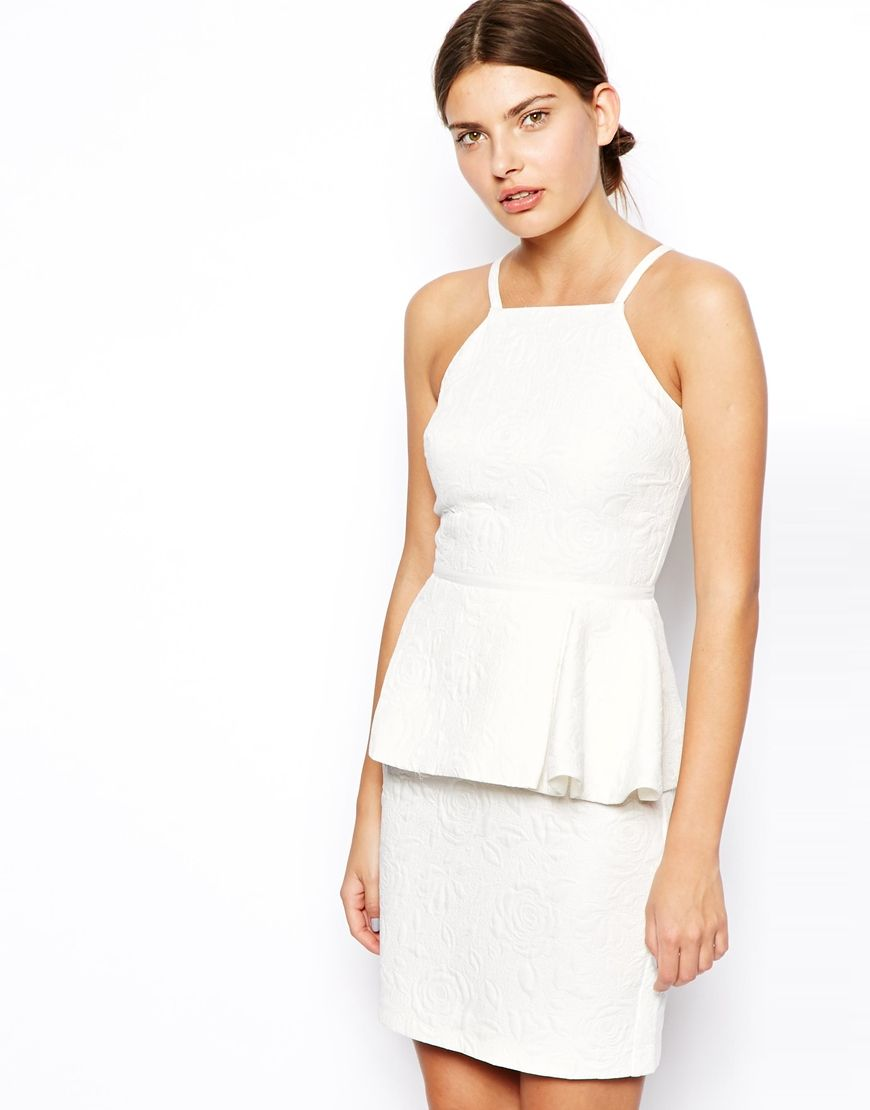 White peplum dress | Monochrome Madness | Pinterest | ASOS, Floral y ...
