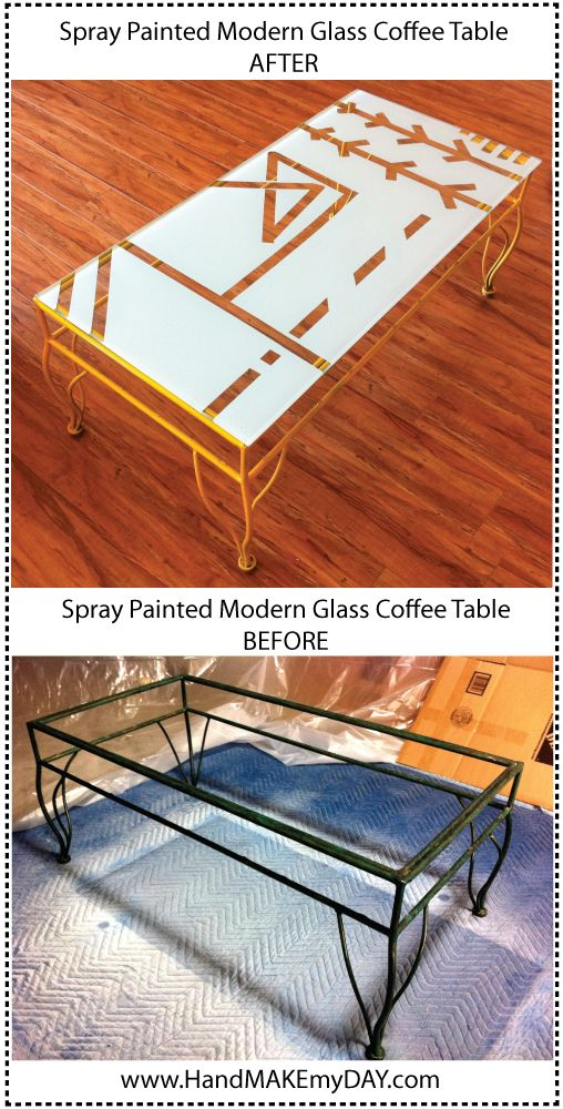 We Made A Modern Coffee Table (Do It Yourself U2013 Another Spray Paint  U0027alooza. Coffee Table RedoGlass Top ...