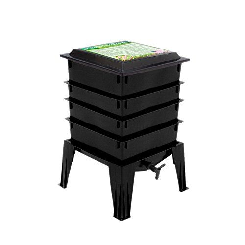Worm Factory 360 WF360B Worm Composter, Black Nature's Fo...