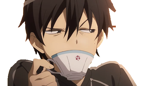 Image result for kirito tea annoyed