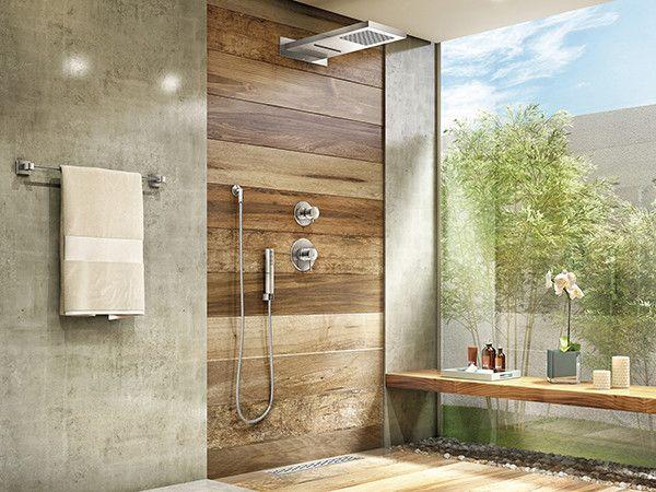 Ceramica madeira piso parede banheiro banheiros for Pisos bonitos decorados
