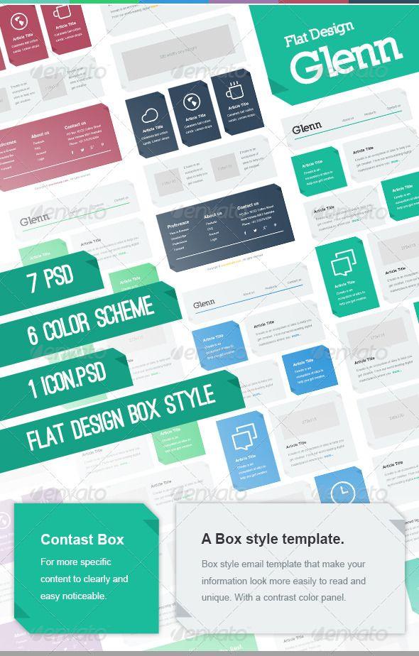 Glenn Mail Fashion Box Infographic Templates Web Layout Design