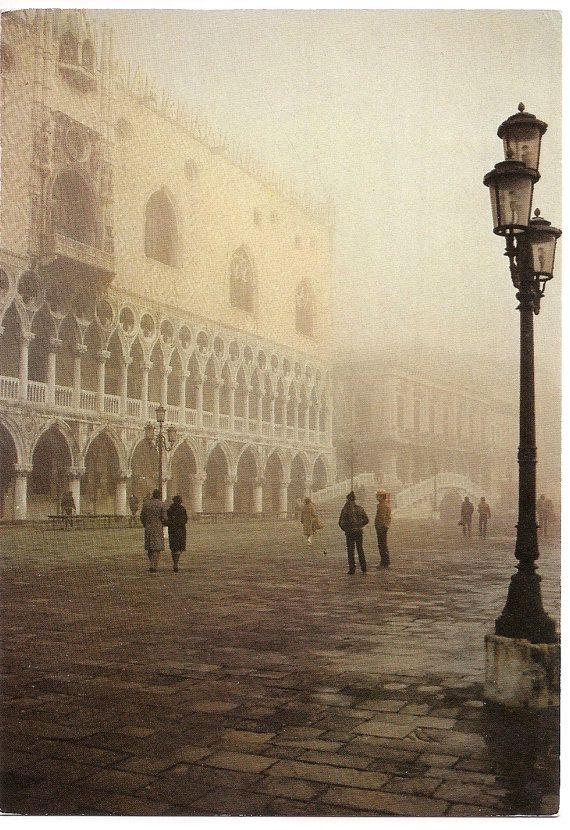 Venice, Palace of the Doges with Fog