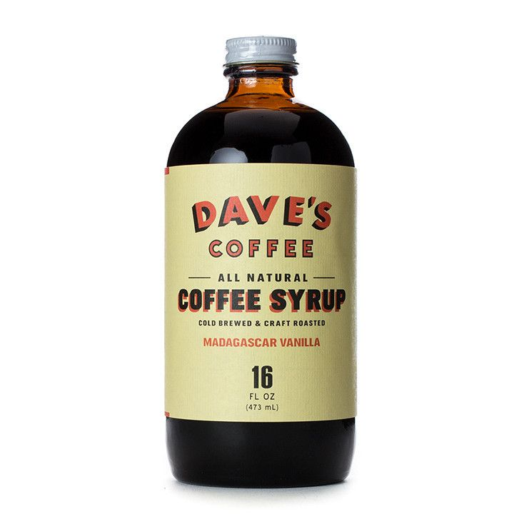 Daves coffee all natural vanilla coffee syrup coffee
