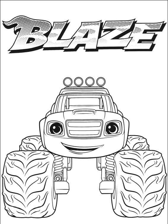 Blaze Coloring Pages Nick Jr