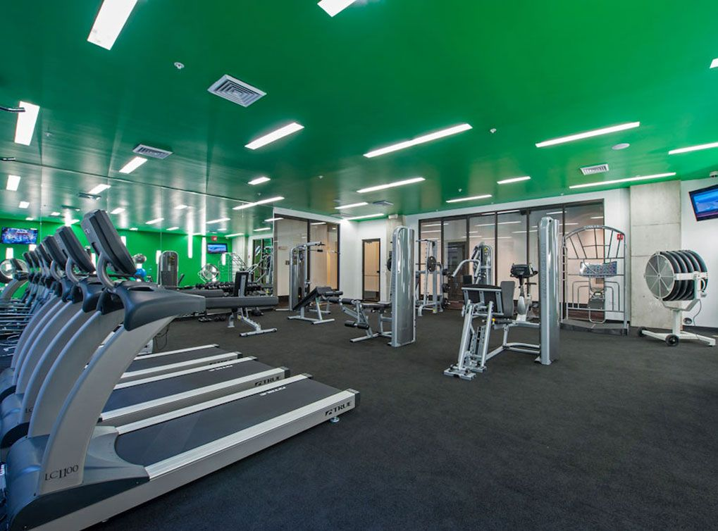 24hour fitness club at amli uptown a luxury apartment