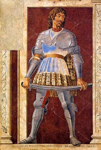Andrea del Castagno Famous Men-Condottiere Pippo Spano