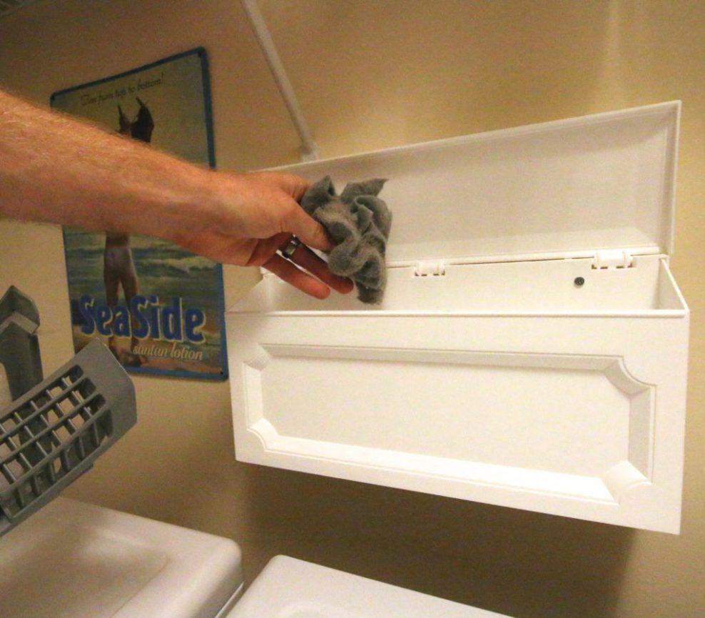 Diy Wall Mounted Laundry Room Trash Can Hack Laundry Room Diy