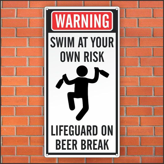 Funny Pool Sign Funny Lifeguard Sign 12 X 24 Aluminum Sign Pool Signs Funny Pool Signs Funny Signs