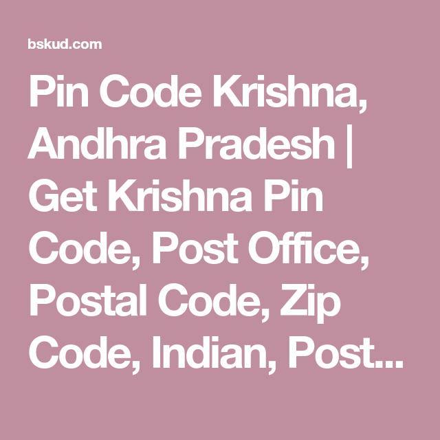 Pin Code Krishna, Andhra Pradesh | Get Krishna Pin Code