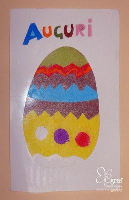 Uovo di Pasqua con i sabbiarelli