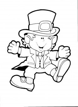 Patricks Day Leprechaun Coloring Page