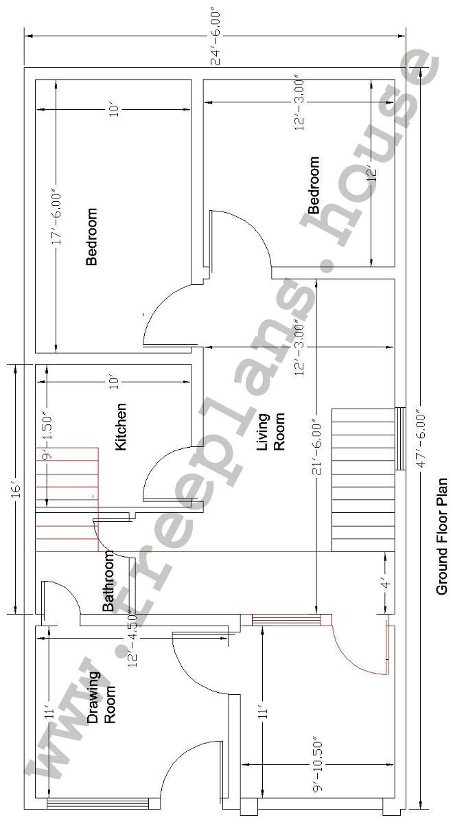 What is 1000 square feet room size - Square Meter House Plan