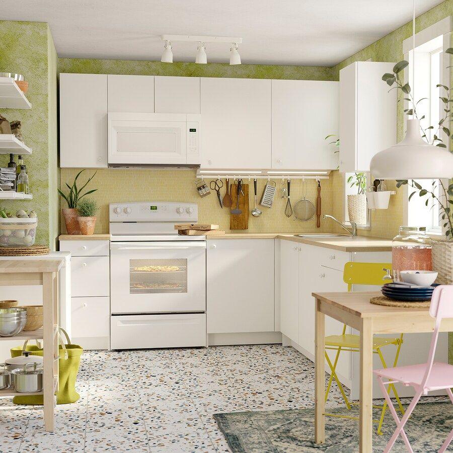 IKEA KNOXHULT White Corner kitchen in 2020 Kitchen