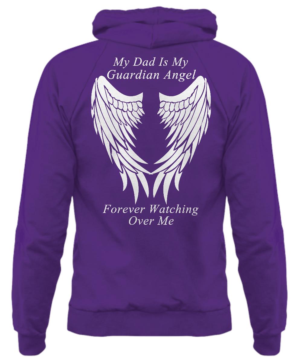 Dad Guardian Angel Hoodie - Adult/Youth