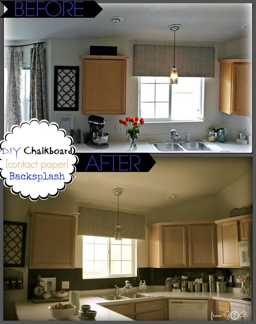 Contact Paper Backsplash Ideas Part - 42: From Gardners 2 Bergers: ? DIY Chalkboard ?Contact Paper? Backsplash ?