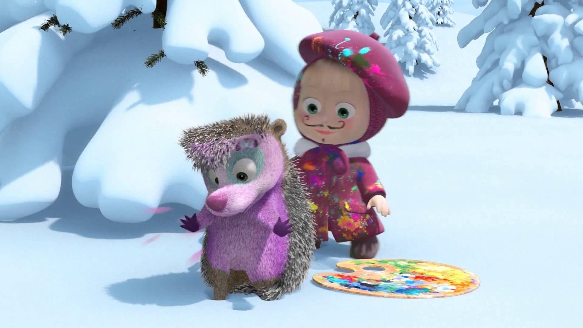 Маша и медведь картина маслом картинка