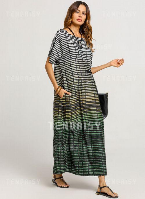 af02a3e8ed1f3 Color Block Cap Sleeve Maxi Shift Dress in 2019 | For Me | Dresses ...