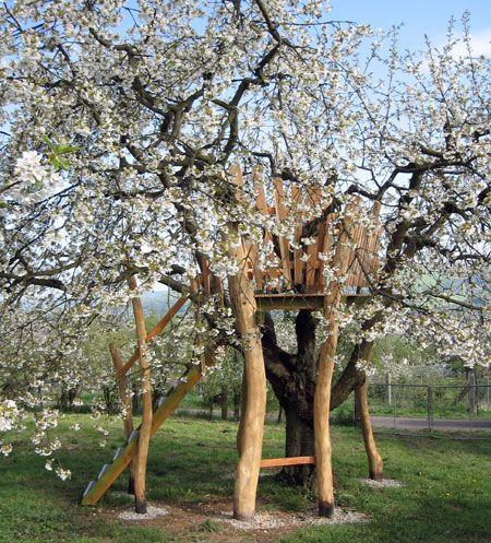 Baumhaus Aus Robinienholz In Witzenhausen Gartenlaube Garten