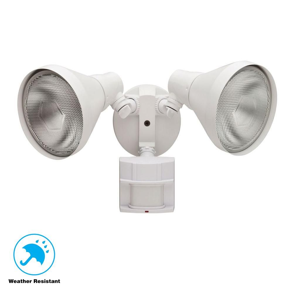 Defiant 180 Degree White Motion Sensing Outdoor Security