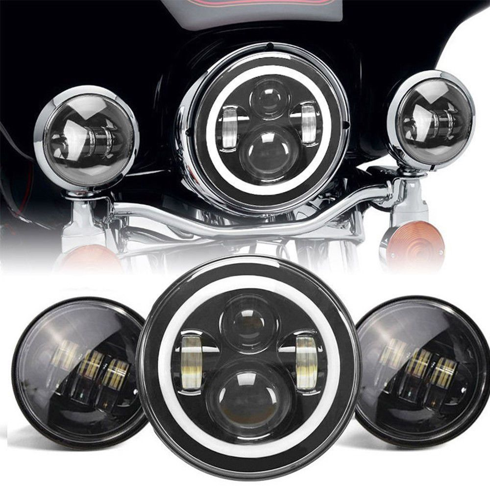 Harley Daymaker 7'' LED Halo Ring Angel eyes DRL Projector
