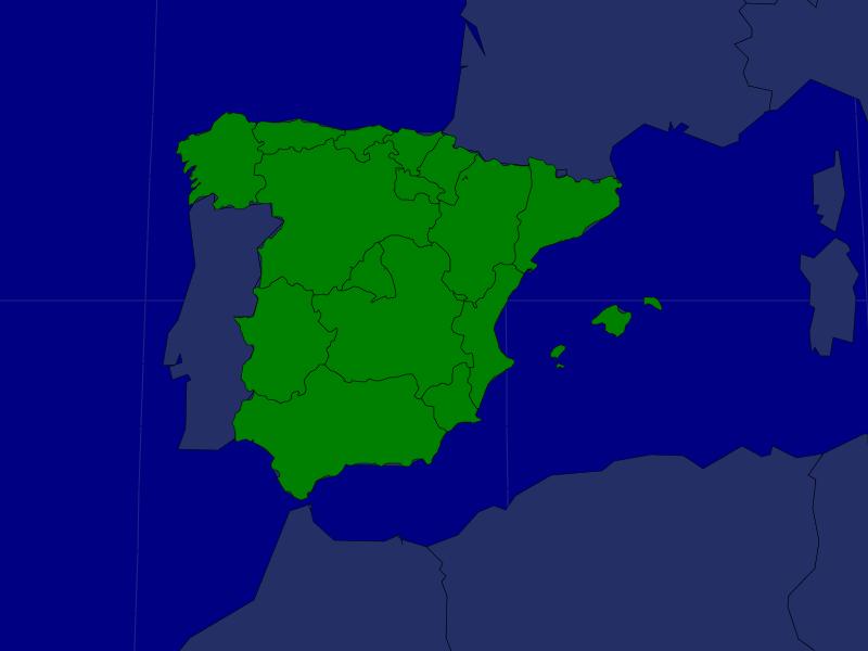 Spain Autonomous Communities Map Quiz Game Home School