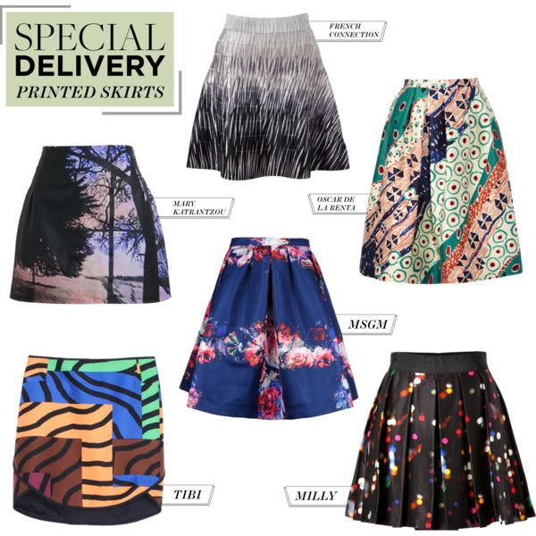 """Special Delivery: 6 Eye-Popping Printed Skirts"" by polyvore-editorial on Polyvore"