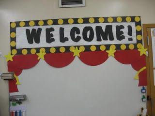 Yellow Classroom Decor : Hollywood themed classroom ideas & printable classroom decorations