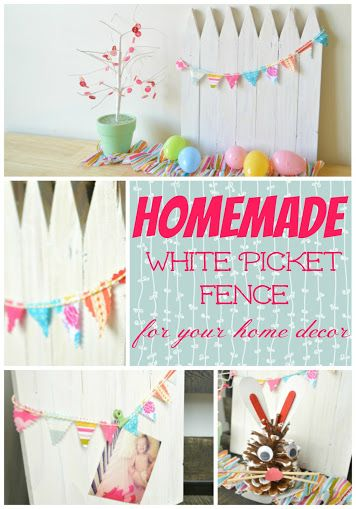Make A Mini White Picket Fence Out Of Wood Stakes Use It As Centerpiece Shelf Decor Or Photography Backdrop