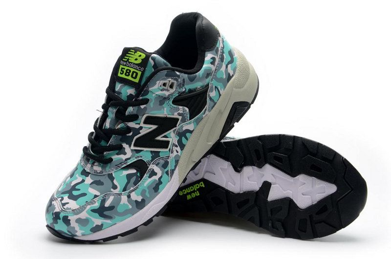 Camo Green Black - Mens New Balance 580 Sneakers