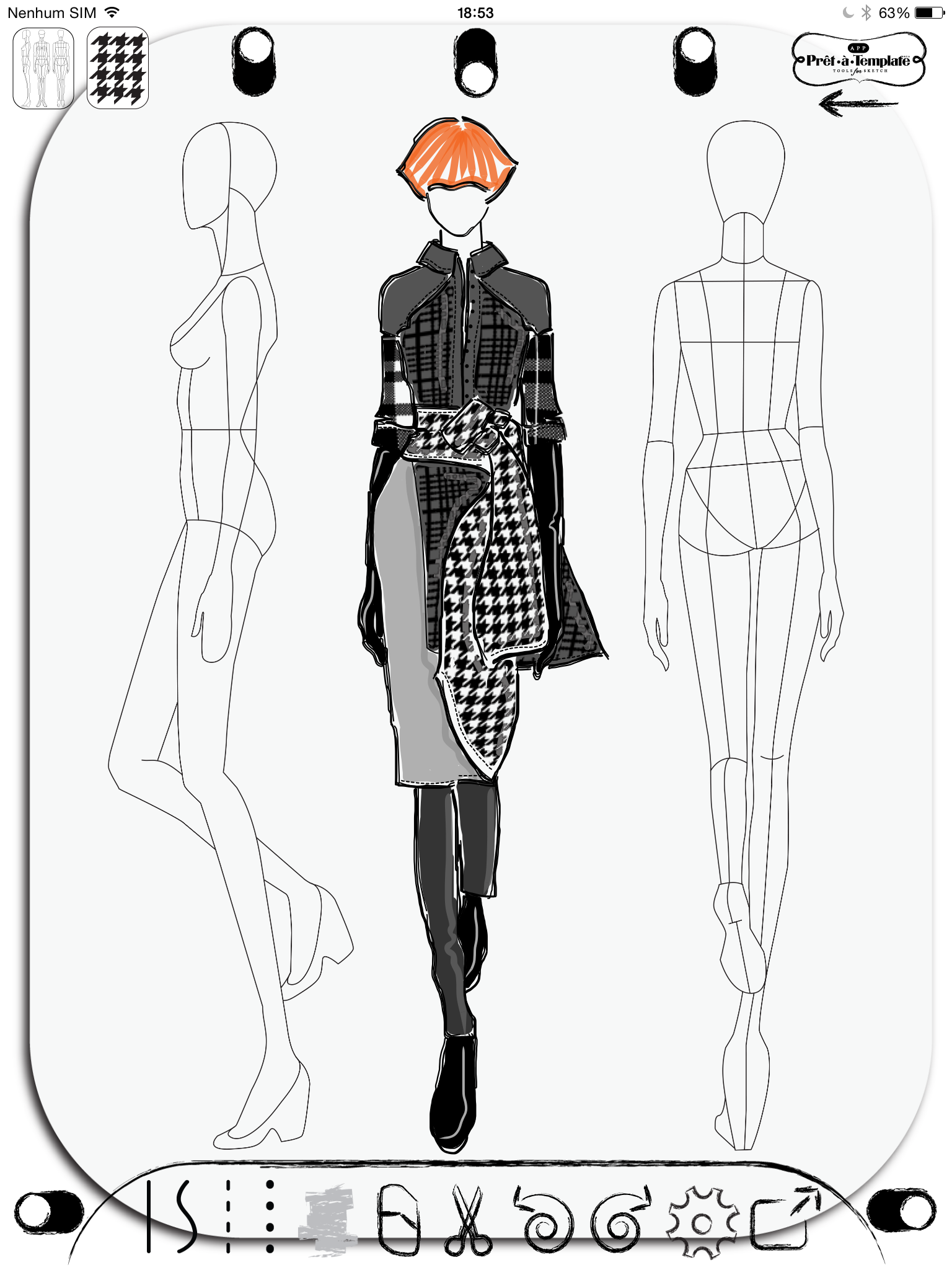 Fashion Sketch App Pret A Template Etatemplate